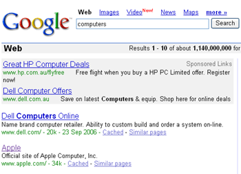 Apple computers search result